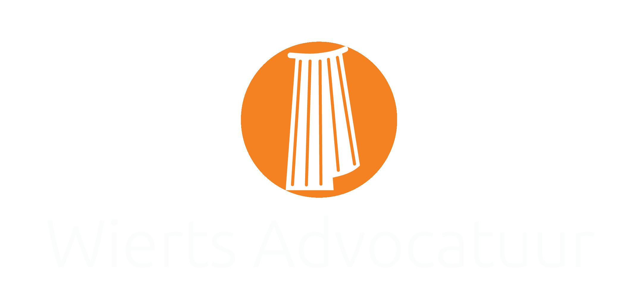 Wierts Advocatuur Logo Wit